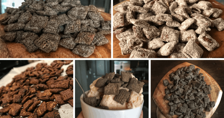 High Protein Puppy Chow Recipe with Protein Powdered Sugar Coating