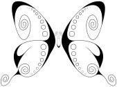 Swirly Butterfly 1