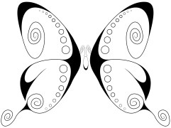 Swirly Butterfly 1