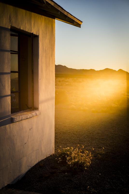 abandoned buildings in the desert
