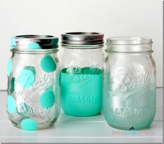 Painted Mason Jars 3 Ways Shes Kinda Crafty
