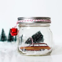 Car in Jar Snow Globe