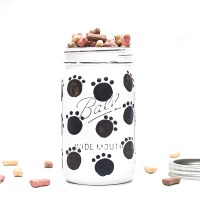 Dog Treat Mason Jar