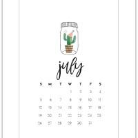 July 2020 Free Calendar Page Printable