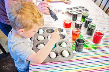 Easter Eggs dyeing eggs