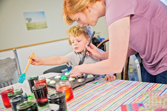 Easter Eggs mother son activities