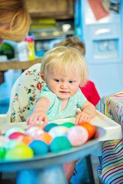 Easter Eggs wondering eyes