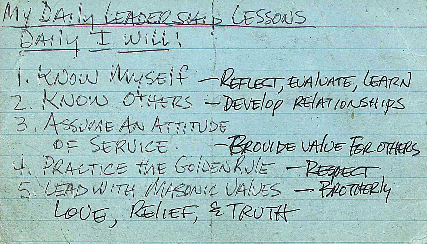 Five Daily Leadership Reminders | Masons Lead Better