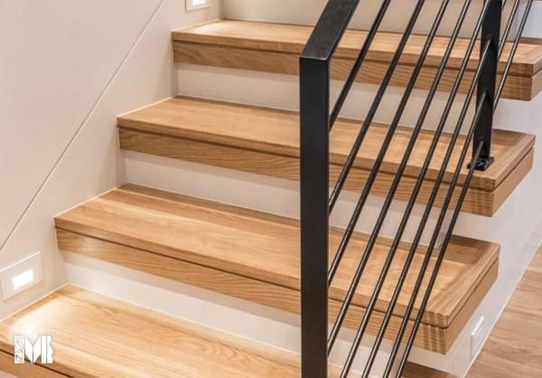 Stair Treads – Mason S Mill Lumber Co | Red Oak Stair Treads | Non Slip | Bullnose Manufacturing | Modern | Dark Stain | Wood