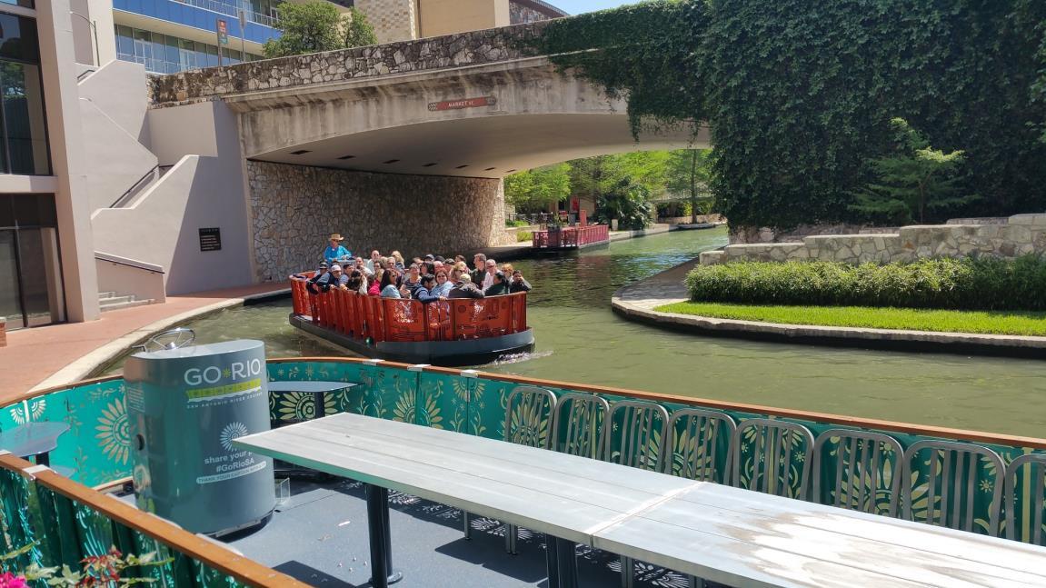 River Barges on San Antonio River Walk