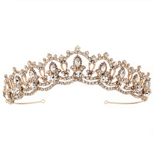 Feel like a princess with the exquisite Regan Rose Gold crown. Designed and crafted to the highest standards and featuring sparkling cubic zirconias on a rose gold finish. Versatile crown to suit a range of hairstyles and lengths.