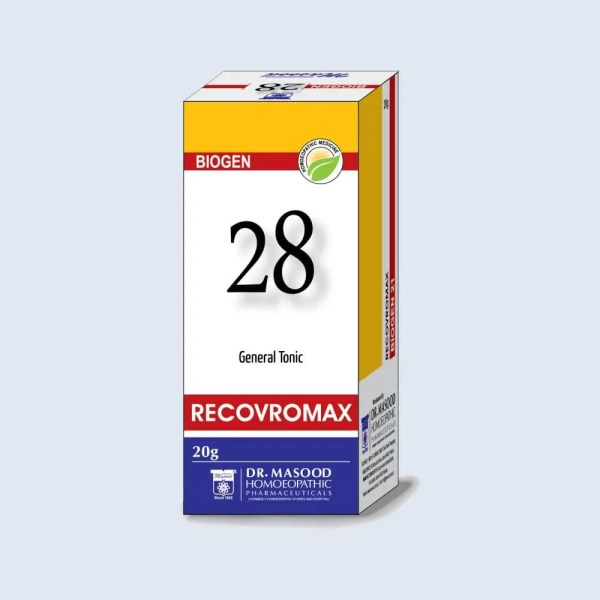 BIOGEN 28 RECOVROMAX - Dr. Masood Homoeopathic Pharmaceuticals