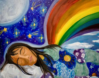 dessins couleur femme reves lucides sophrologue l'isle sur la sorgue