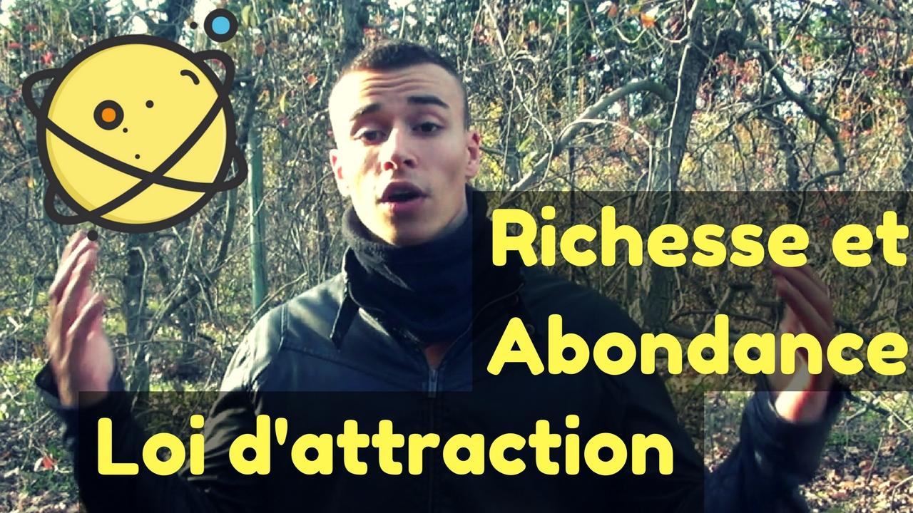 Loi d'attraction richesse abondance stan carrey planète
