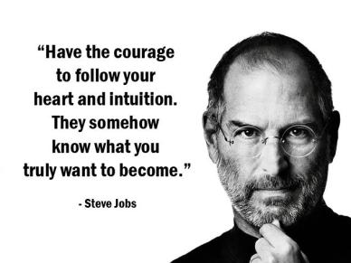 stev jobs citation courage intuition se suicider