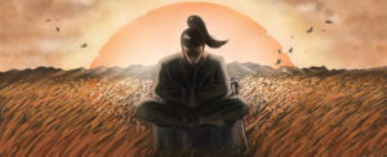 guerrier manga méditation accomplir de grandes choses