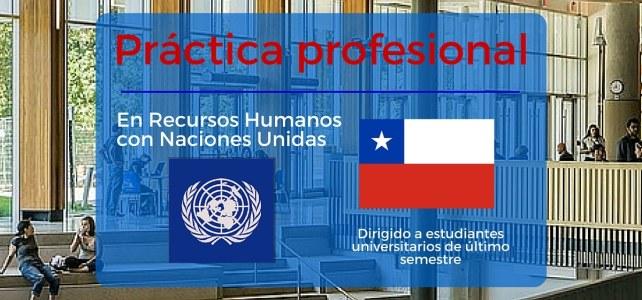 Prácticas profesionales con Naciones Unidas en Chile.