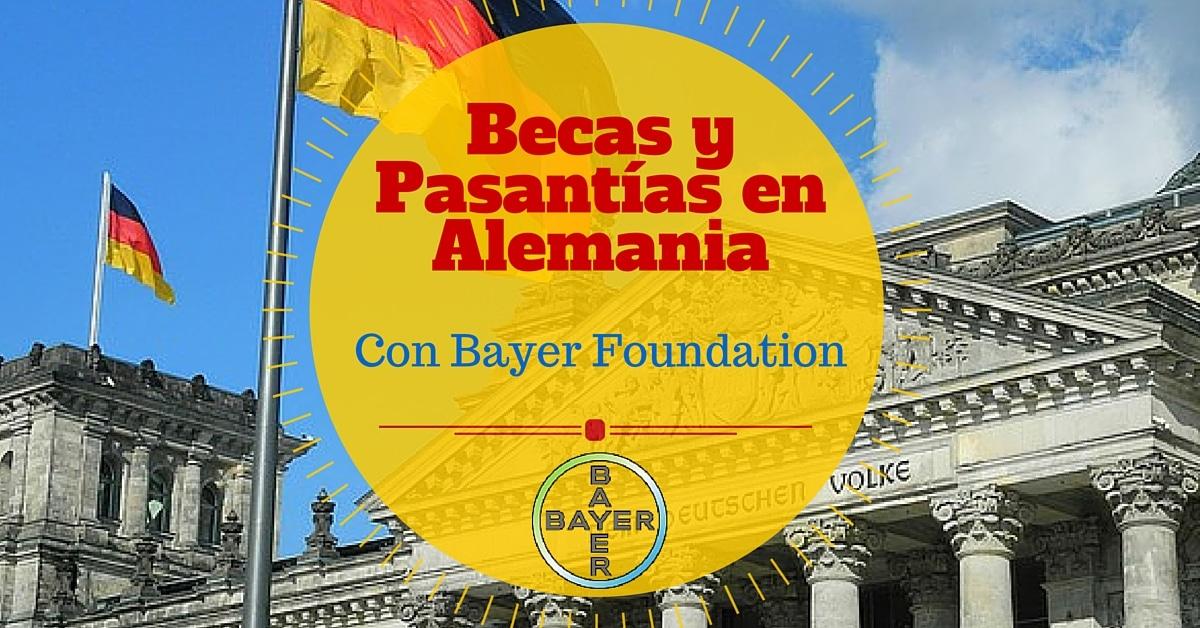 Resultado de imagen para Becas Bayer Foundations