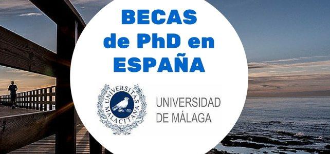 Becas de PhD en la Universidad de Málaga en España