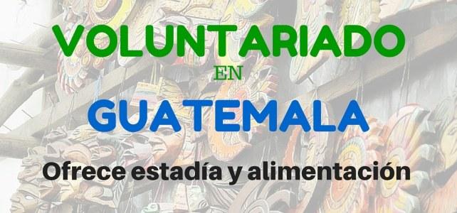 Voluntariado en temas de educación en Guatemala