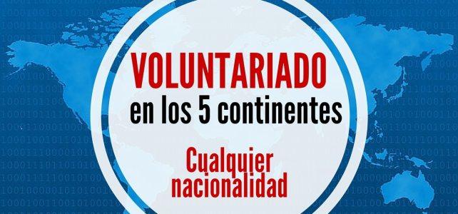 Voluntariados en Europa – Asía – Sur América – África, donde quieras!