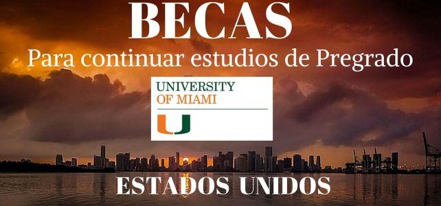 Becas para estudiar la universidad/pregrado en Miami – Estados Unidos