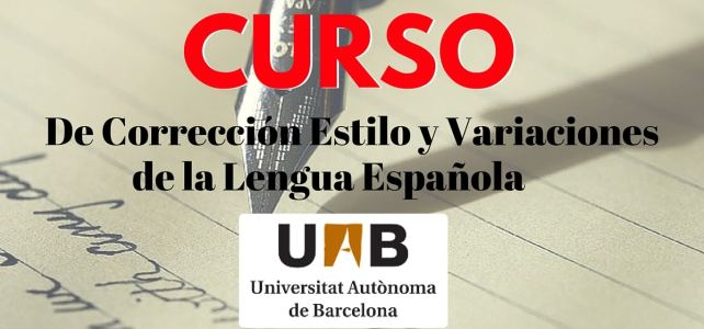 Curso online de corrección, estilo y variaciones de la lengua española