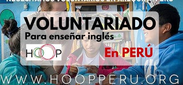 Voluntariado enseñando inglés en Perú con HOOP !