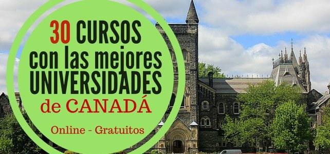 30 cursos online gratis acreditados por universidades de Canadá