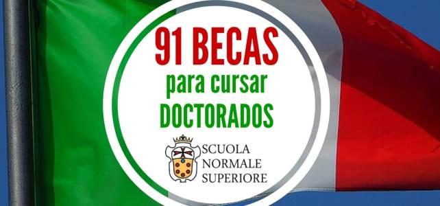 Pensando en Doctorado? hay 91 becas para cursar doctorado en Italia