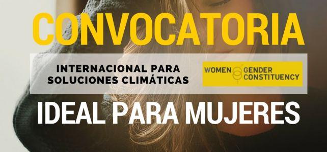 Convocatoria internacional para soluciones climáticas. Especial para mujeres