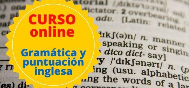 Curso online sobre gramática y puntuación inglesa