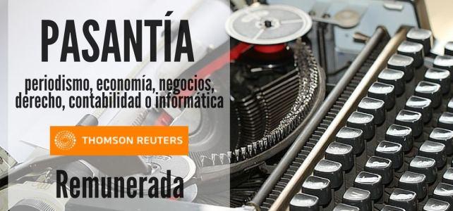 Práctica profesional con la Agencia Internacional Reuters – Remunerada
