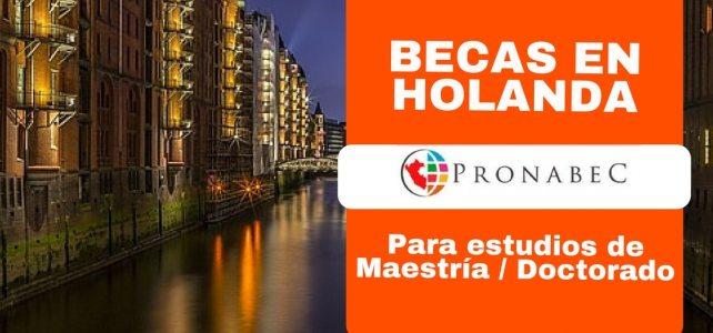 Becas completas para estudiar maestrías y doctorados en Holanda. Ideal para Peruanos