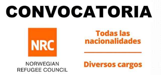 Convocatoria internacional con el Consejo de Refugiados Noruego -NRC