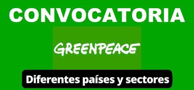 Convocatoria internacional con Greenpeace