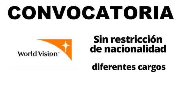 Convocatorias y pasantías remuneradas con World Vision