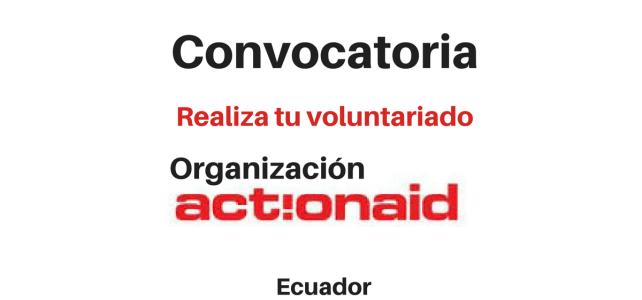 Convocatoria realiza tu voluntariado en Ecuador – organización humanitaria