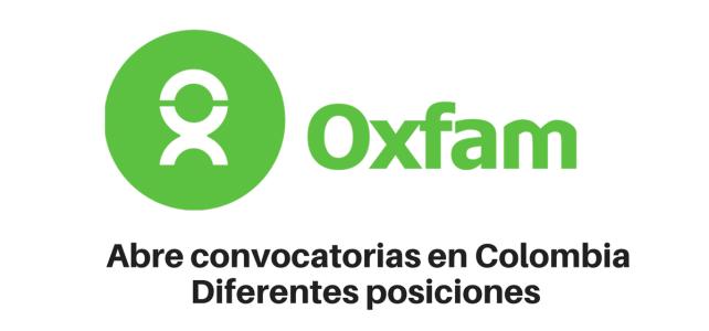 Convocatoria diferentes vacantes con OXFAM