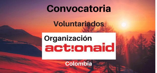 Convocatoria para realizar voluntariados en Colombia