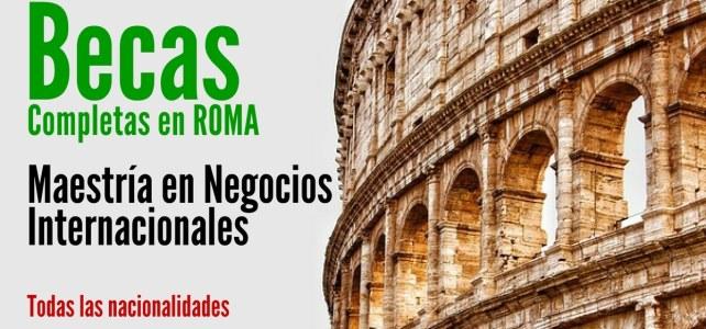 Becas completas en Italia en Negocios Internacionales