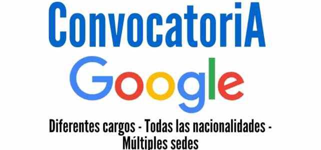 Vincúlese a Google: Convocatoria abierta