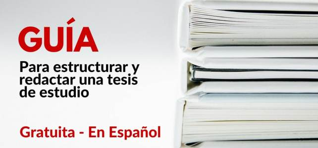 Libro gratuito para diseñar y redactar una tesis