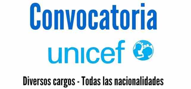 Convocatoria a nivel mundial para vincularse a Unicef