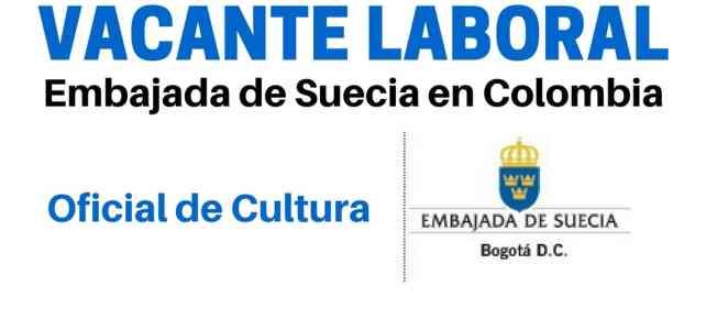 Vacante laboral con la Embajada de Suecia en Colombia