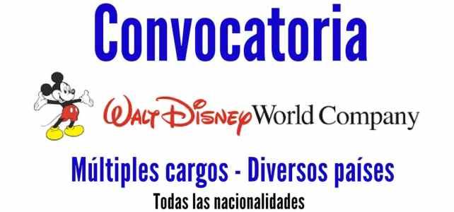 Convocatoria laboral con Walt Disney Company