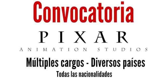 Convocatorias laborales con Pixar
