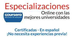 Especializaciones online certificadas