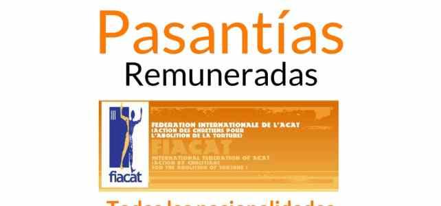 Pasantías remuneradas con la Federación Internacional para la Abolición de la Tortura
