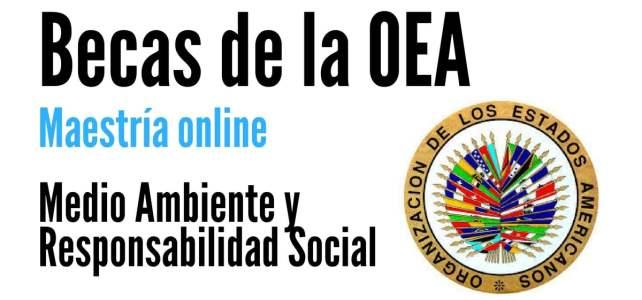 Becas OEA Fondo Verde para Maestría online en Medio Ambiente y Responsabilidad Social